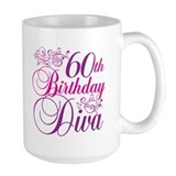 60th Birthday Diva Mug