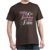 60th Birthday Diva T-Shirt