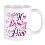 90th Birthday Diva Small Mug