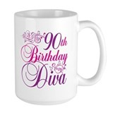90th Birthday Diva Mug