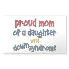 Proud Mom.....2 (Daughter DS) Rectangle Decal