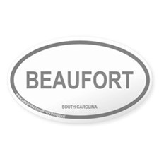 Beaufort, South Carolina Oval Sticker (50 pk)