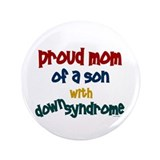 "Proud Mom....2 (Son DS) 3.5"" Button"