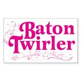 Baton Twirler Rectangle Decal