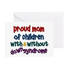 Proud Mom....2 (With & Without DS) Greeting Card