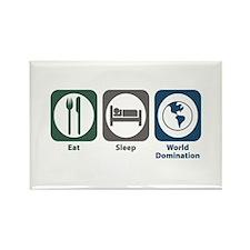 Eat Sleep World Domination Rectangle Magnet