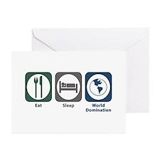 Eat Sleep World Domination Greeting Cards (Pk of 2