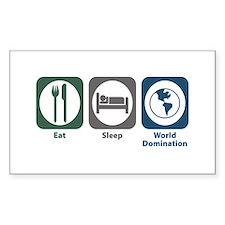 Eat Sleep World Domination Rectangle Decal