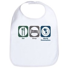 Eat Sleep World Domination Bib