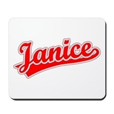 Retro Janice (Red) Mousepad