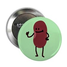 "Bob The Bean 2.25"" Button (10 pack)"