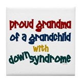 Proud Grandma....2 (Grandchild DS) Tile Coaster