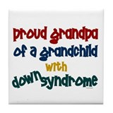 Proud Grandpa....2 (Grandchild DS) Tile Coaster