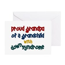 Proud Grandpa....2 (Grandchild DS) Greeting Cards