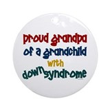 Proud Grandpa....2 (Grandchild DS) Ornament (Round