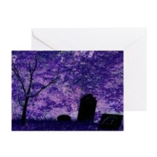 Purple Graveyard Greeting Cards (Pk of 10)
