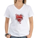 Heart Missouri Women's V-Neck T-Shirt