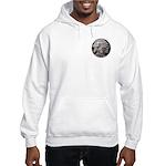 Silver Indian Head Hooded Sweatshirt