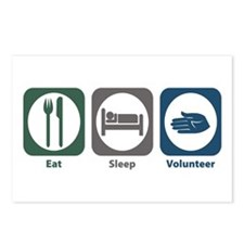 Eat Sleep Volunteer Postcards (Package of 8)