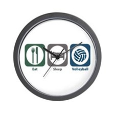 Eat Sleep Volleyball Wall Clock