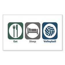 Eat Sleep Volleyball Rectangle Sticker 10 pk)
