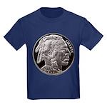 Silver Indian Head Kids Dark T-Shirt