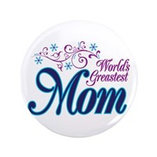 "World's Greatest MOM 3.5"" Button (100 pack)"