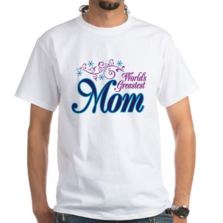 World's Greatest MOM White T-Shirt