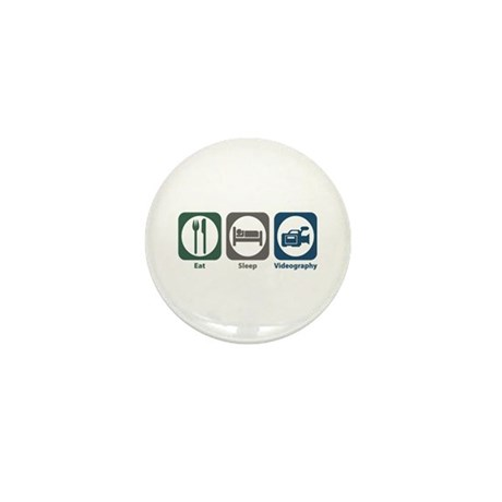Eat Sleep Videography Mini Button (100 pack)