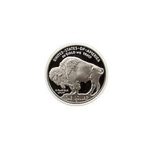 Silver Buffalo Mini Button