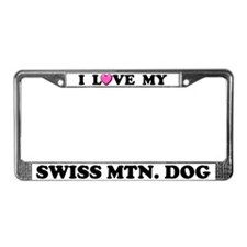 My Greater Swiss Mountain Dog License Plate Frame