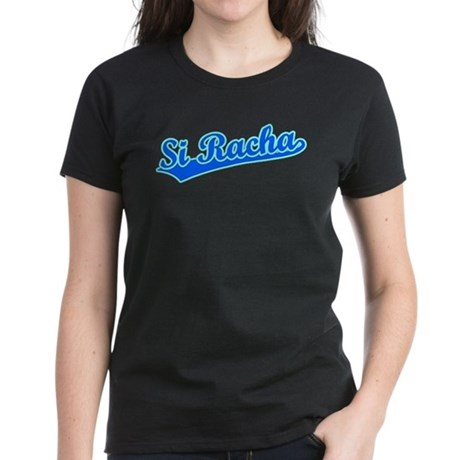 Retro Si Racha (Blue) Women's Dark T-Shirt