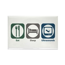 Eat Sleep Ultrasounds Rectangle Magnet