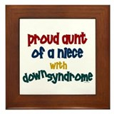 Proud Aunt....2 (Niece DS) Framed Tile