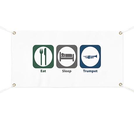 Eat Sleep Trumpet Banner