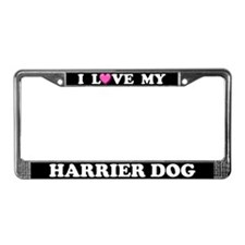 I Love My Harrier License Plate Frame