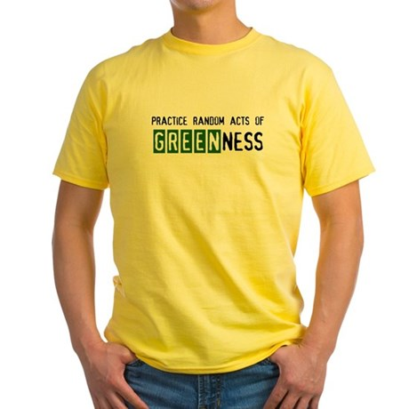 Random acts of Greenness Yellow T-Shirt