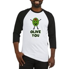 Olive You - I Love You Baseball Jersey