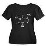 Caffeine Molecule Women's Plus Size Scoop Neck Dar
