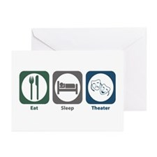 Eat Sleep Theater Greeting Cards (Pk of 10)