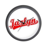 Retro Jazlyn (Red) Wall Clock
