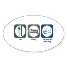 Eat Sleep Technical and Business Writing Decal