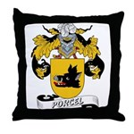 Porcel Family Crest Throw Pillow