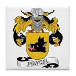 Porcel Family Crest Tile Coaster