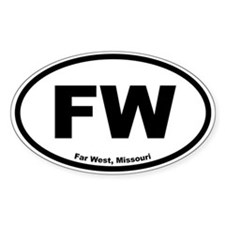 Far West, Missouri Oval Decal