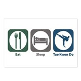 Eat Sleep Tae Kwon Do Postcards (Package of 8)