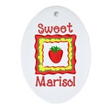 Sweet Marisol Oval Ornament