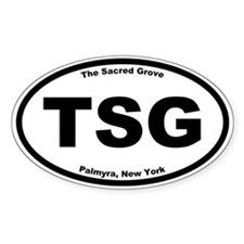 The Sacred Grove Oval Decal