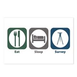 Eat Sleep Survey Postcards (Package of 8)