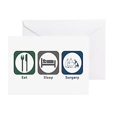 Eat Sleep Surgery Greeting Cards (Pk of 20)